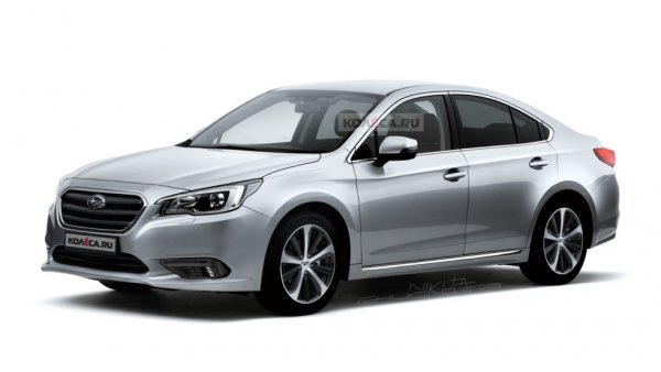 В сети появились первые изображения седана Subaru Legacy нового поколения