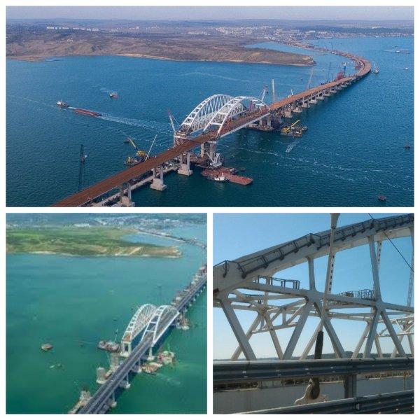 Строители возвели почти все опоры железнодорожной части Крымского моста