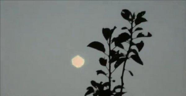 В Словакии на видео попал светящийся НЛО