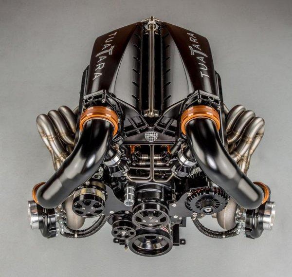 SSC показала на фото 1350-сильный мотор V8 гиперкара SSC Tuatara