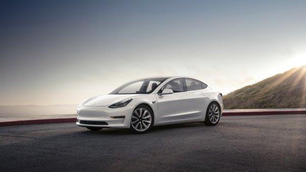 Клиент приобрел Tesla Model 3 с одной коричневой дверью