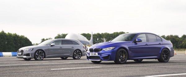 Специалисты сравнили BMW M3 CS и Audi RS4 в поединке