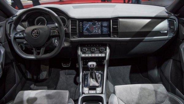 Skoda показала тизер «заряженного» кроссовера Skoda Kodiaq RS