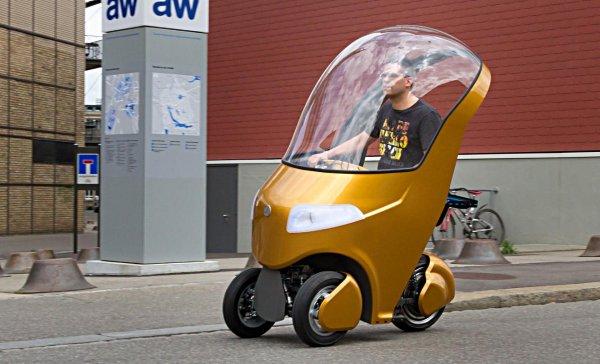 Швейцарские студенты построили гибрид скутера, велосипеда и электрокара