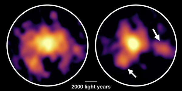 Ученые показали галактику-монстр, поедающую себя