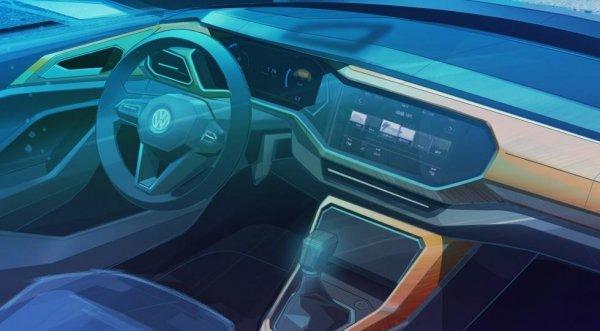 Volkswagen показал салон нового T-Cross