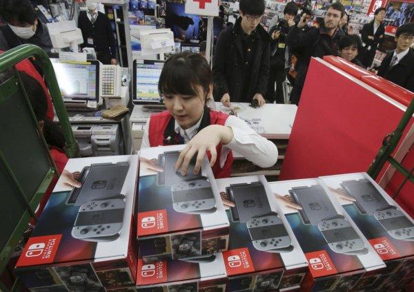 Рост продаж Switch увеличил выручку Nintendo