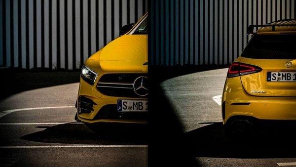В сети появился новый тизер «заряженного» Mercedes-AMG A35