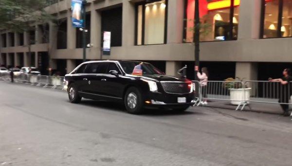 Новый лимузин Дональда Трампа «Зверь» впервые показали на видео