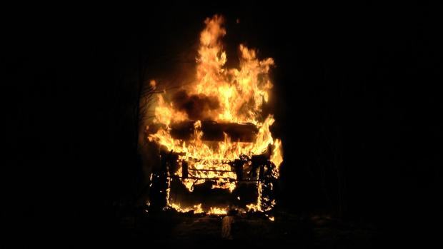 Тюменец сгорел заживо, не сумев выбраться из машины