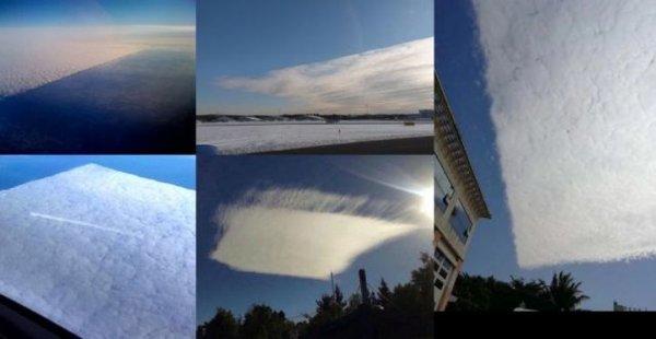 В Сети активно обсуждают гигантское квадратное облако в Англии