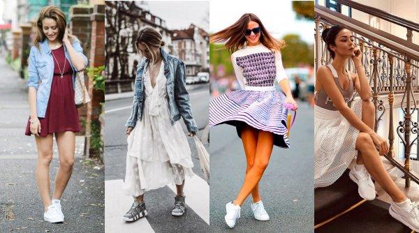 «Колхозом» и не пахнет. Как носить «кроссы» с платьем и не «облажаться», рассказали стилисты